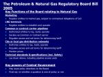 the petroleum natural gas regulatory board bill 2005
