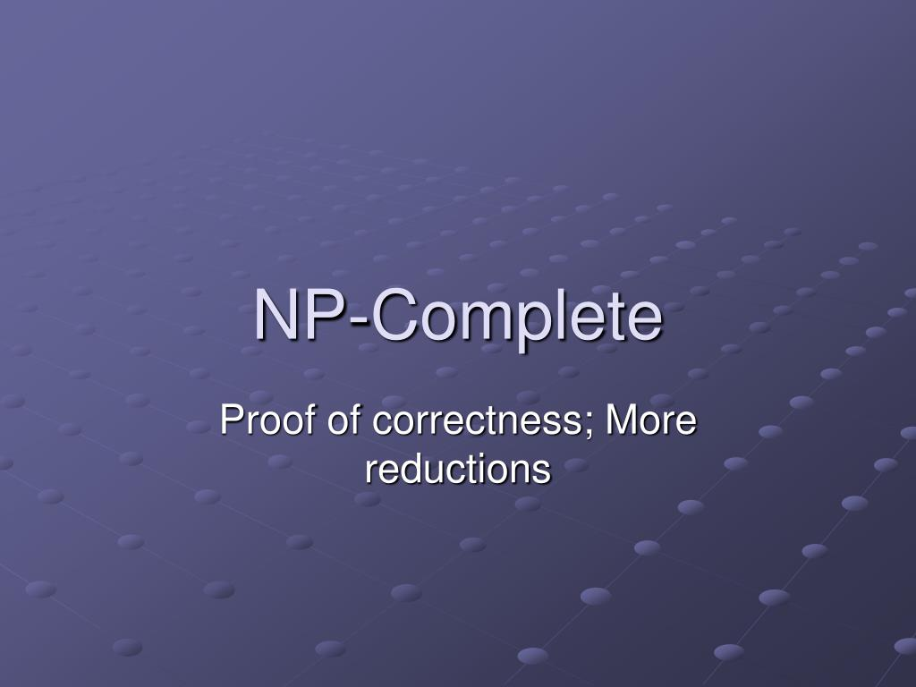 np complete