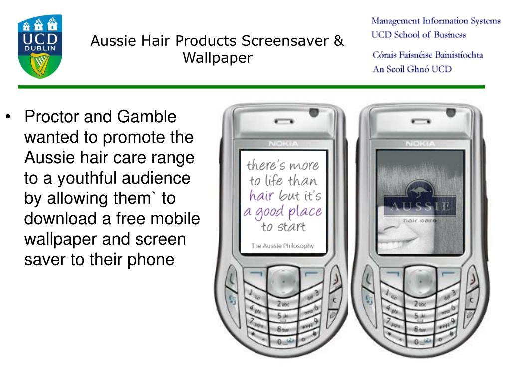 Aussie Hair Products Screensaver & Wallpaper