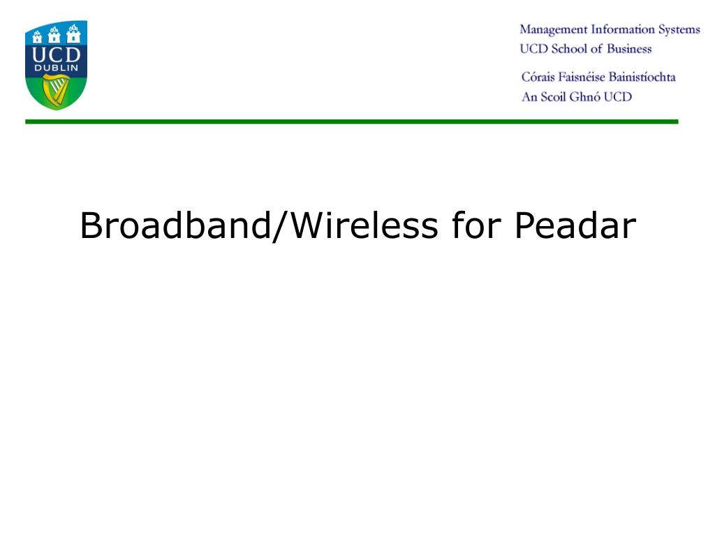 broadband wireless for peadar