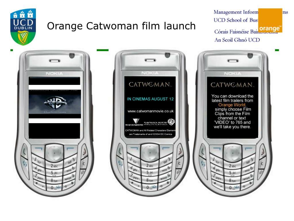 Orange Catwoman film launch