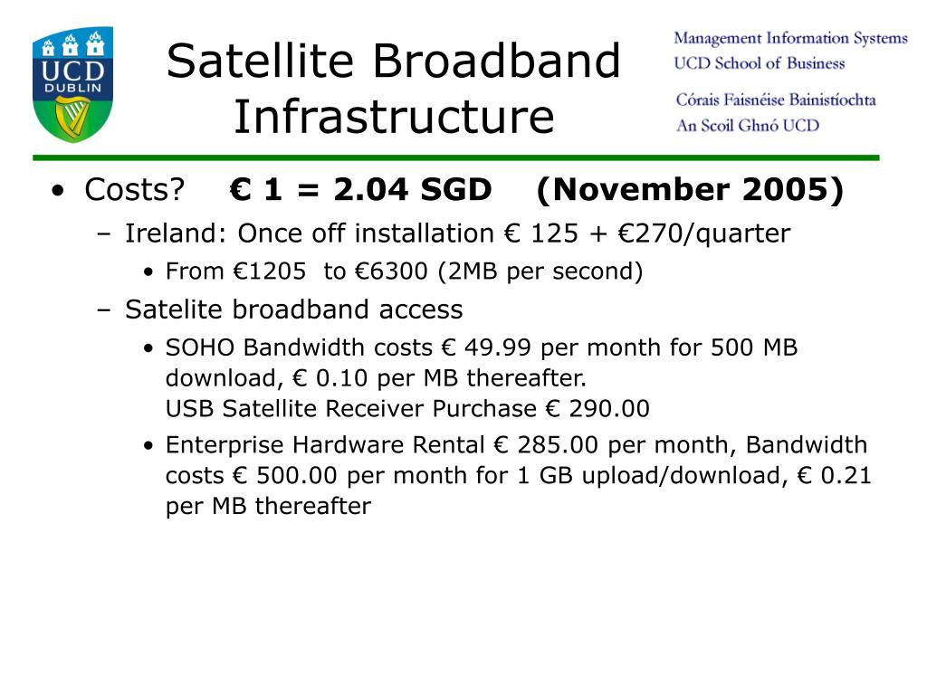 Satellite Broadband Infrastructure