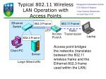 typical 802 11 wireless lan operation with access points