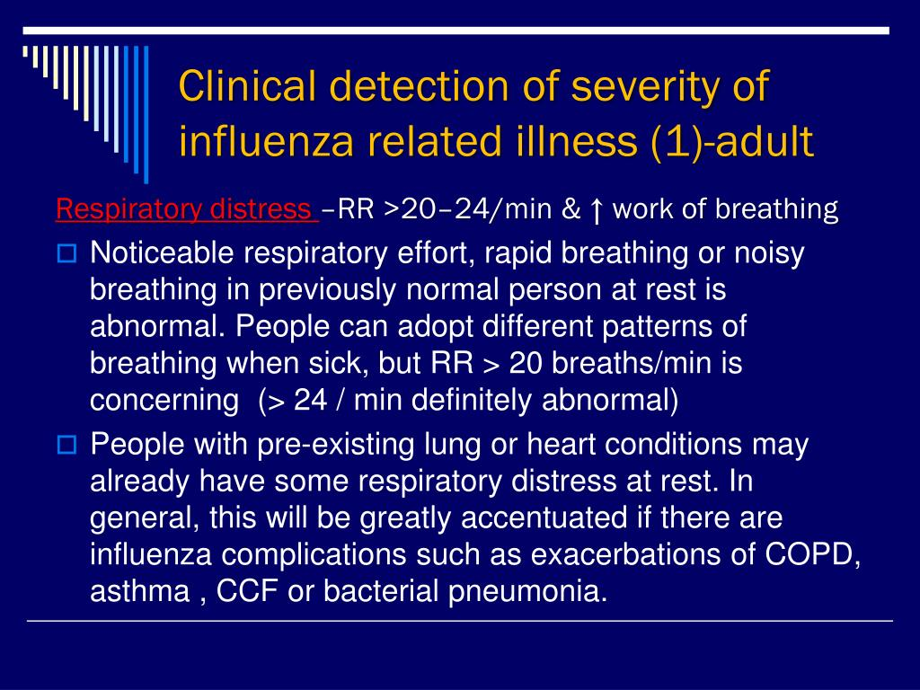 Clinical detection of severity of influenza related illness (1)-adult