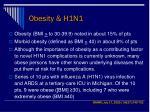 obesity h1n1