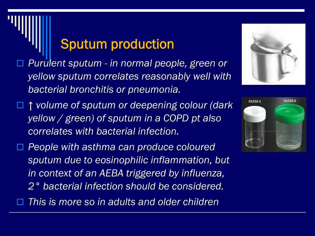 Sputum production