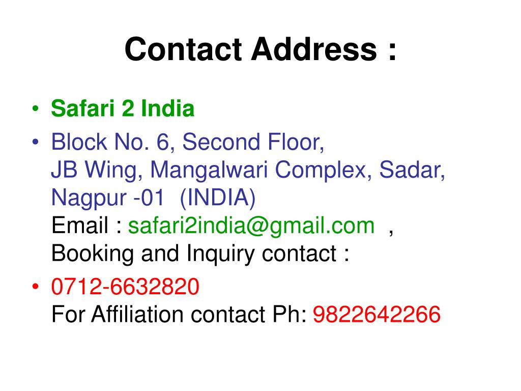 Contact Address :