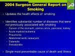 2004 surgeon general report on smoking