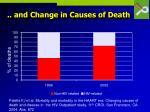 and change in causes of death