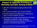 impact of cigarette smoking on mortality and qol among plwha