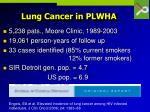 lung cancer in plwha