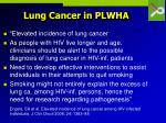 lung cancer in plwha38
