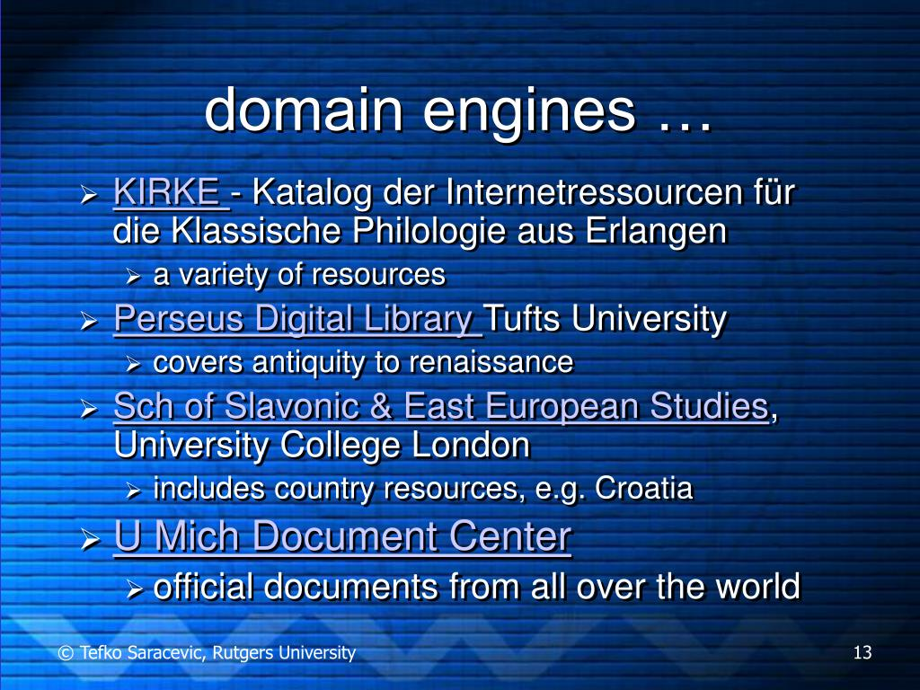 domain engines …