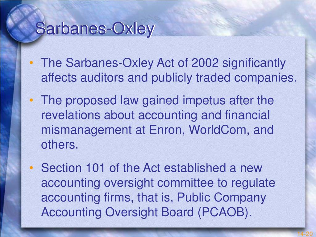 sarbanes oxley strengths and weaknesses Section 404 is today the focal point in the debate over the costs and benefits of the changes in corporate practice mandated by sarbanes-oxley 27 companies with revenue of more than $75 million disclosed material weaknesses or significant deficiencies in internal controls during the month of january.