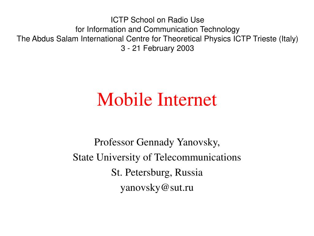 ICTP School on Radio Use
