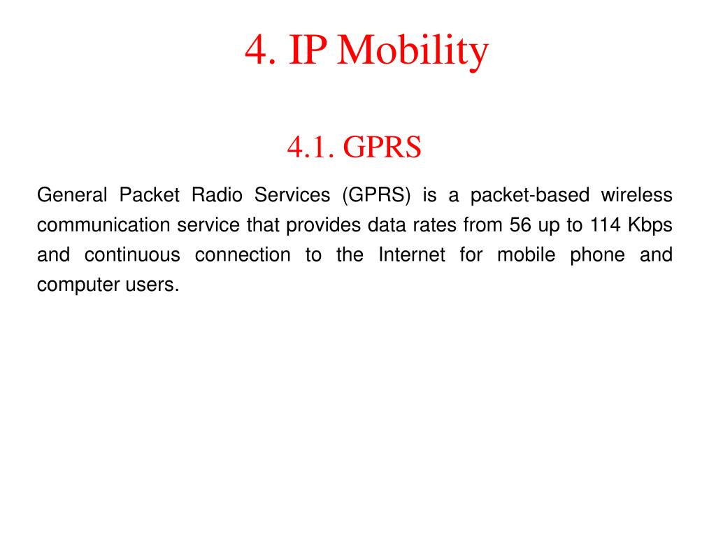 4. IP Mobility