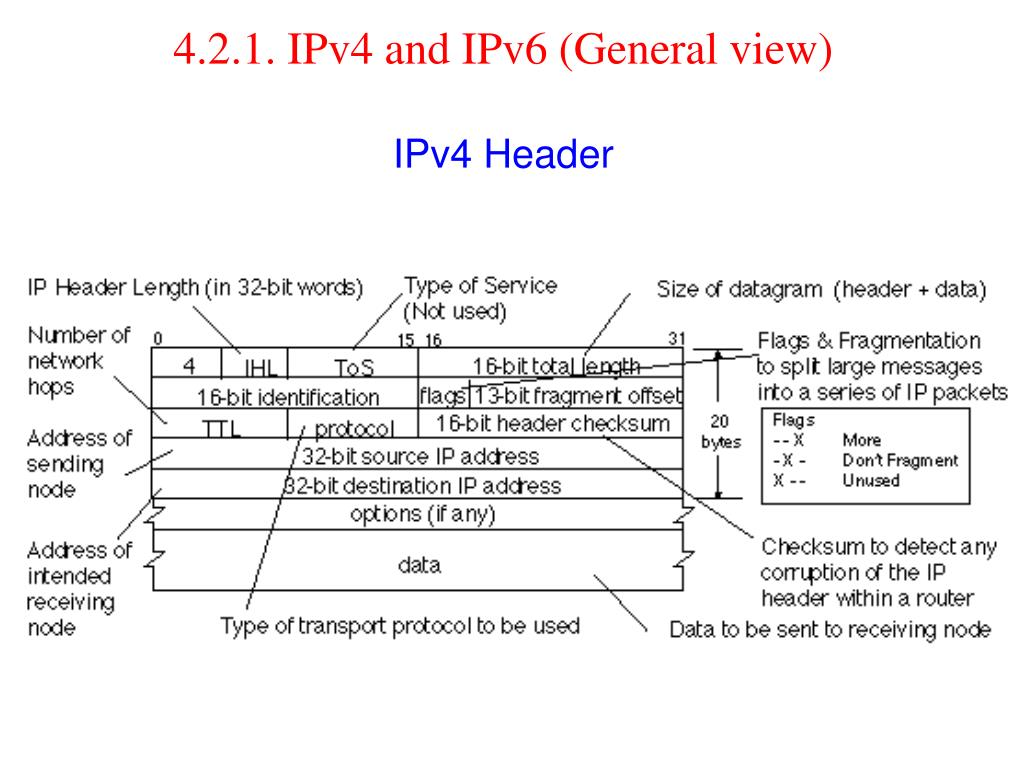 4.2.1. IPv4 and IPv6 (General view)