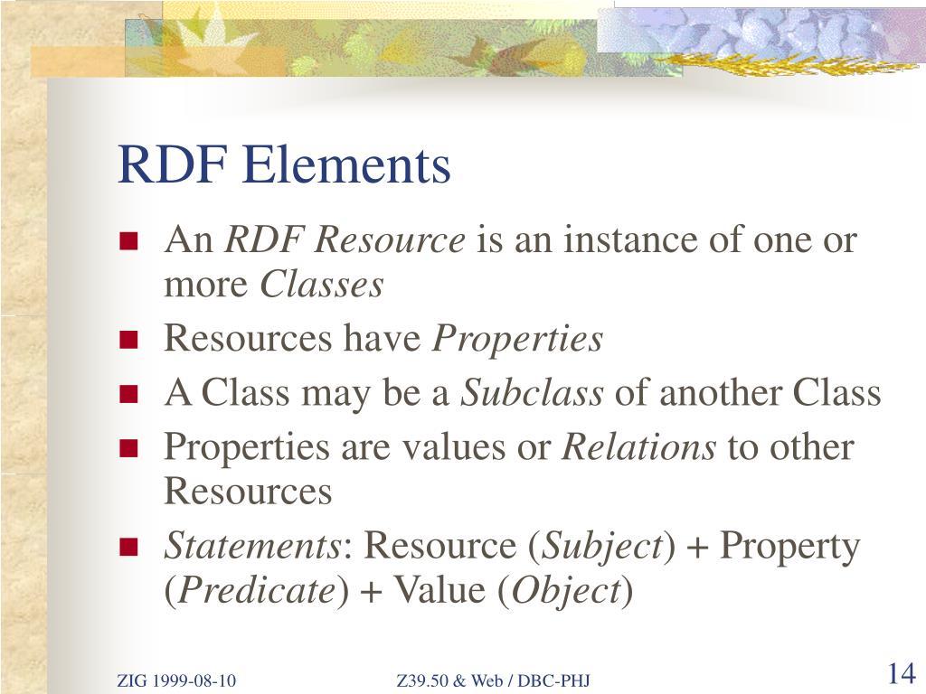 RDF Elements
