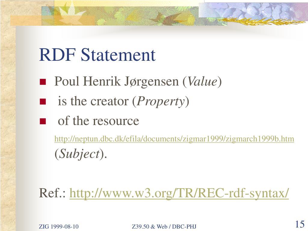 RDF Statement