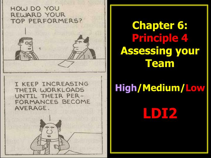 chapter 6 principle 4 assessing your team high medium low ldi2