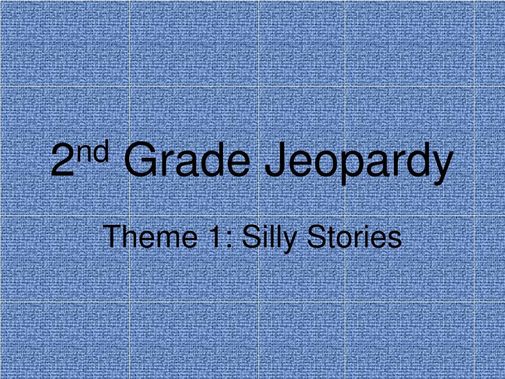 2 nd grade jeopardy