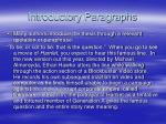 introductory paragraphs12