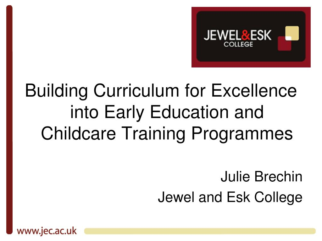 Building Curriculum for Excellence into Early Education and Childcare Training Programmes