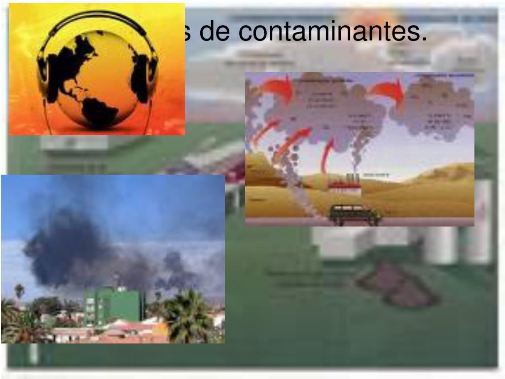 Ejemplos de contaminantes.