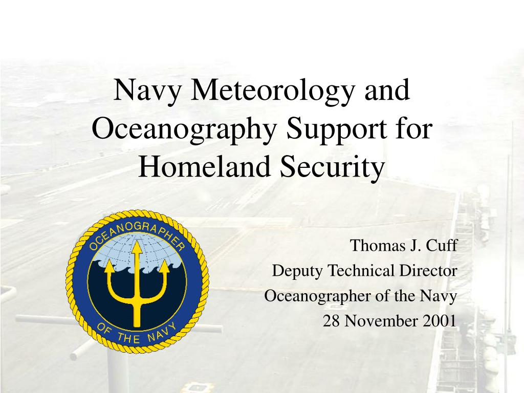 navy meteorology and oceanography support for homeland security