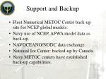 support and backup