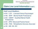 claim line level information cont15