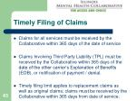 timely filing of claims