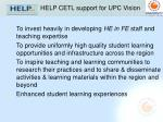 help cetl support for upc vision