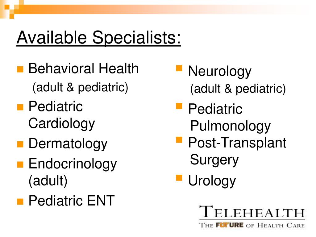 Available Specialists: