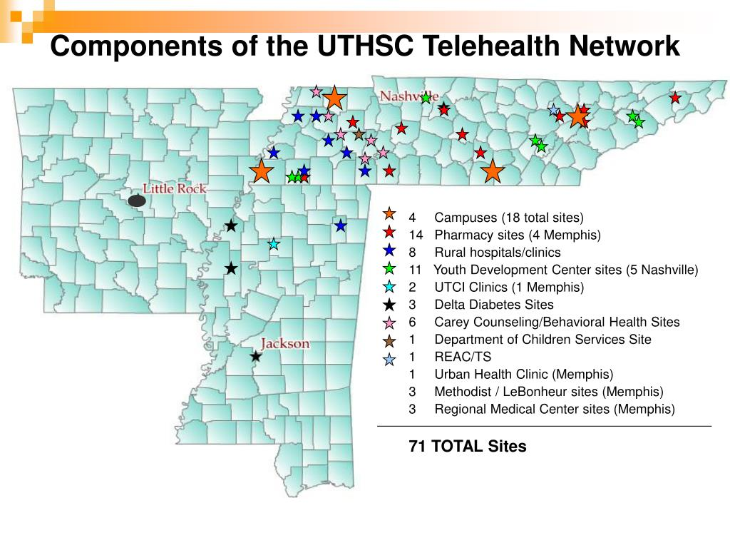 Components of the UTHSC Telehealth Network
