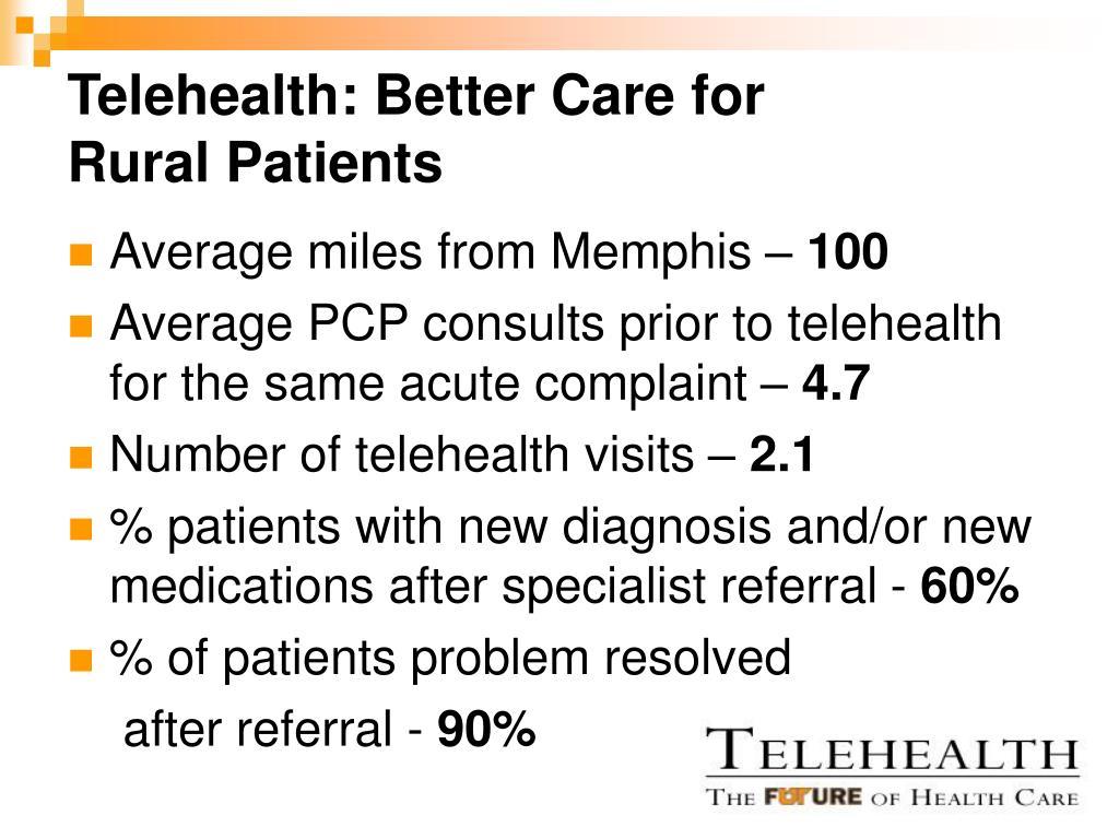 Telehealth: Better Care for