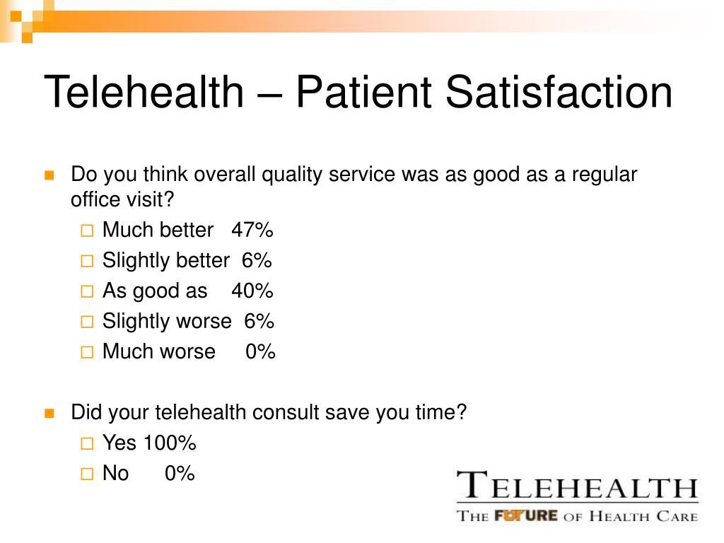 Telehealth – Patient Satisfaction
