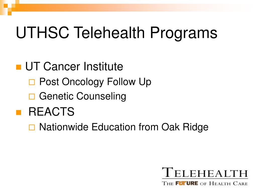 UTHSC Telehealth Programs