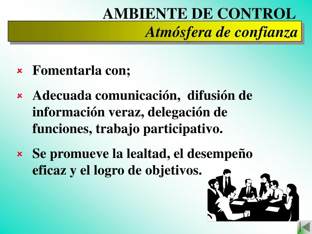 AMBIENTE DE CONTROL