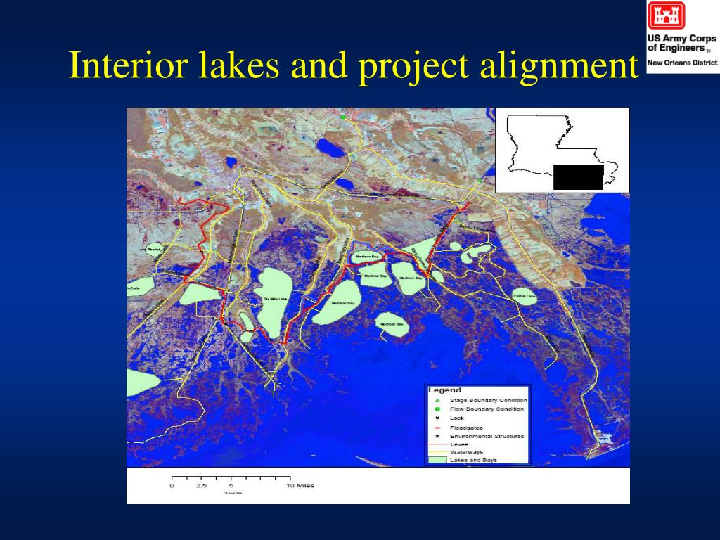 Interior lakes and project alignment
