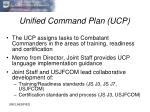 unified command plan ucp