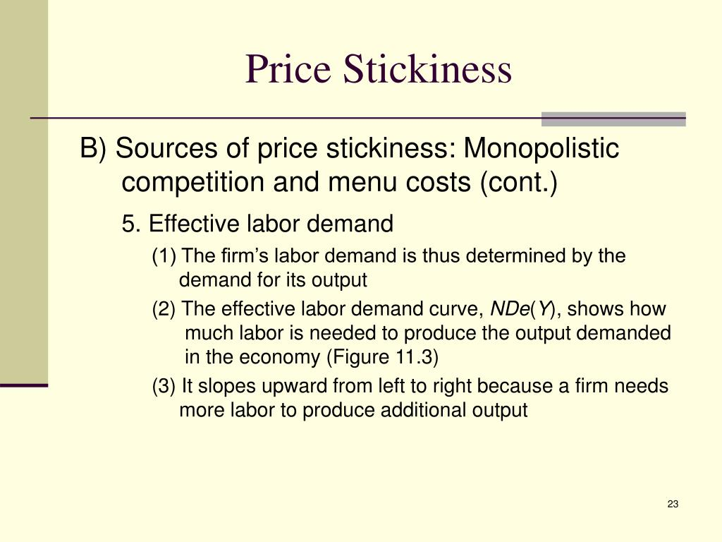 Price Stickiness