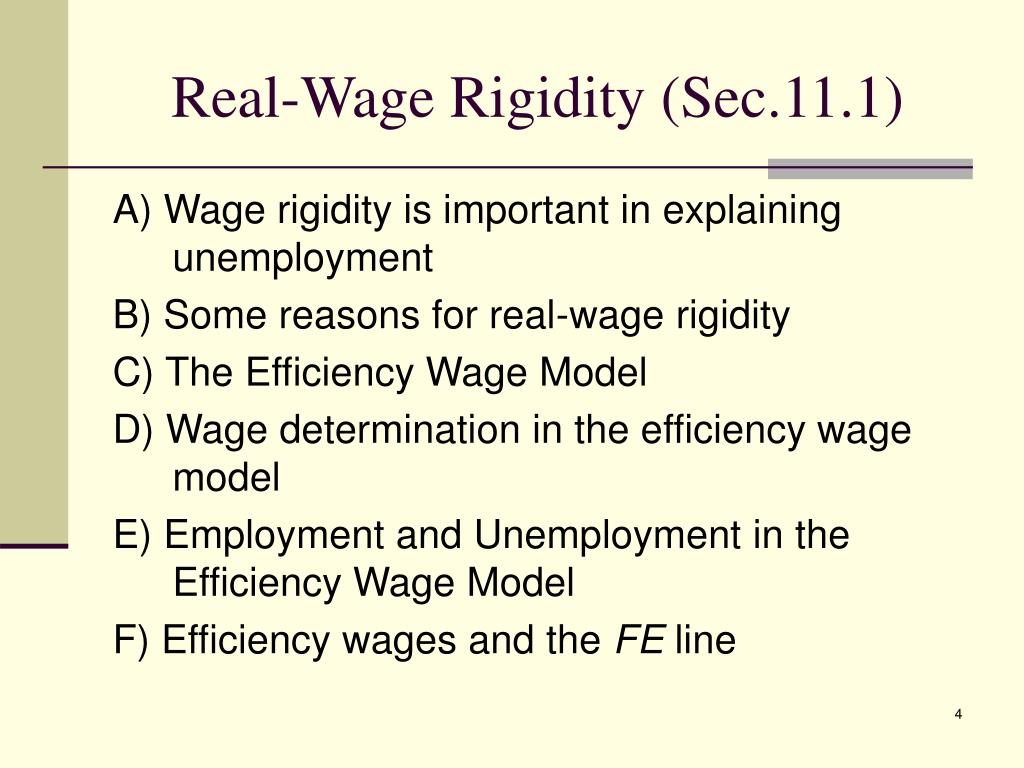 Real-Wage Rigidity (Sec.11.1)