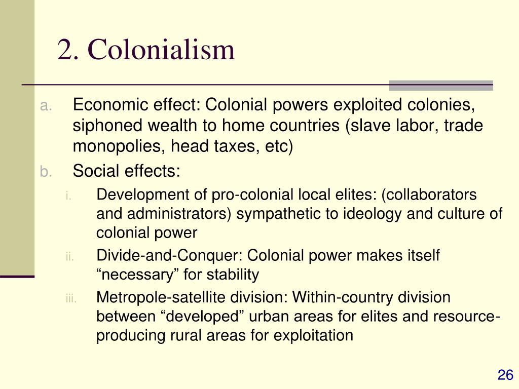 2. Colonialism