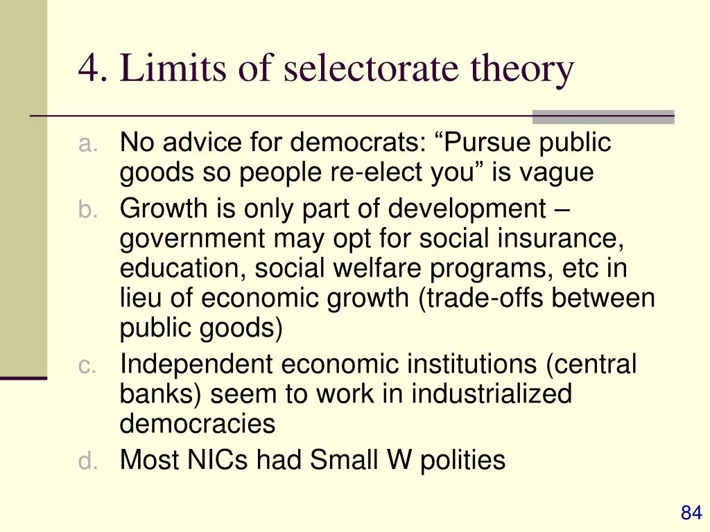 4. Limits of selectorate theory