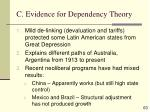 c evidence for dependency theory63