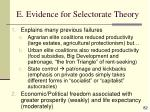 e evidence for selectorate theory