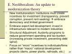 e neoliberalism an update to modernization theory23