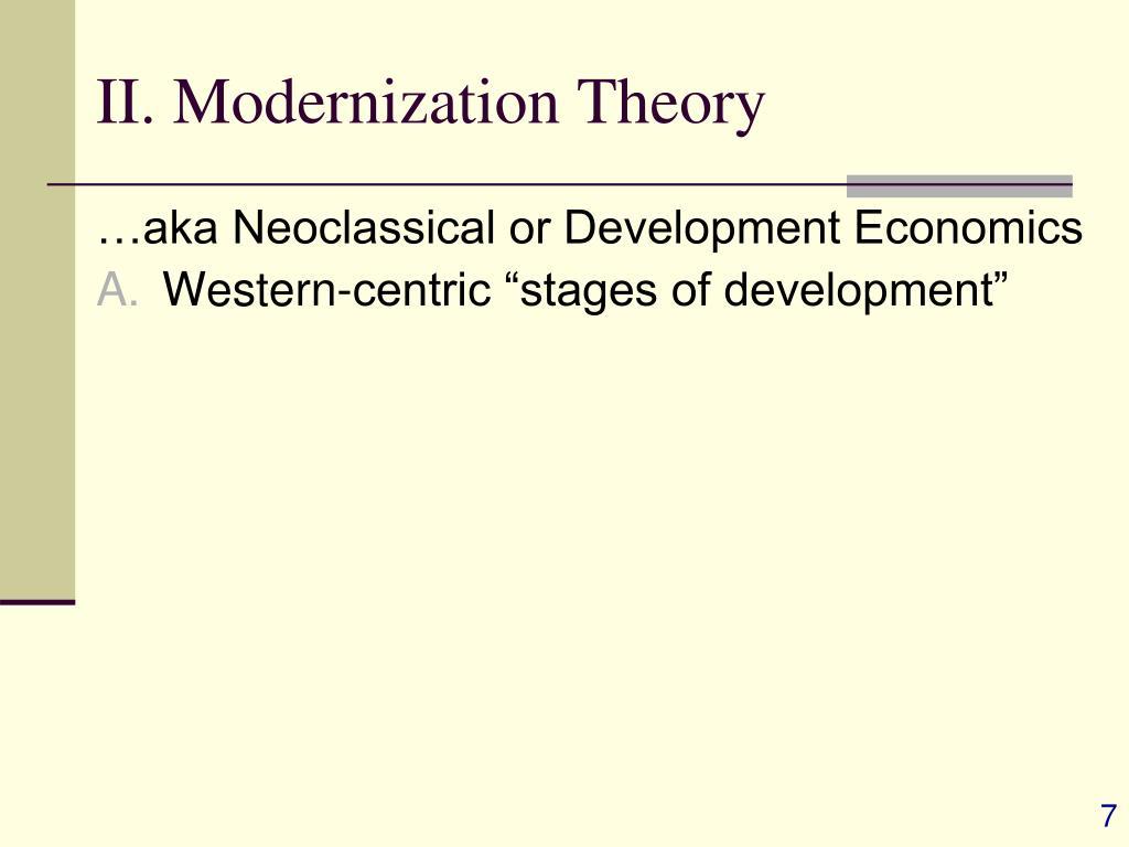II. Modernization Theory