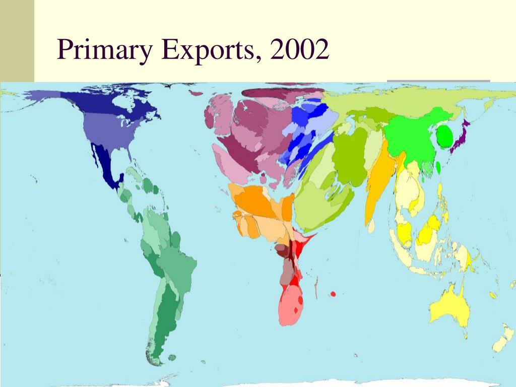 Primary Exports, 2002